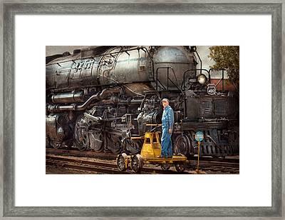 Locomotive - The Gandy Dancer  Framed Print by Mike Savad