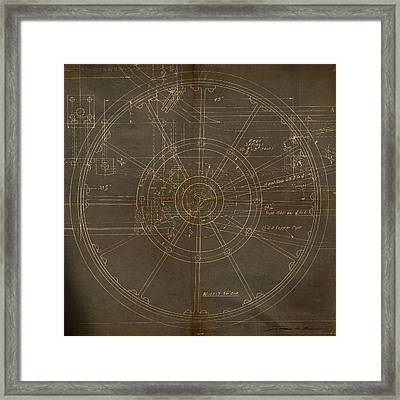 Framed Print featuring the painting Locomotive Wheel by James Christopher Hill