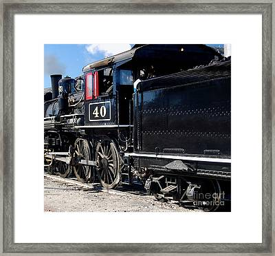 Framed Print featuring the photograph Locomotive With Tender by Gunter Nezhoda