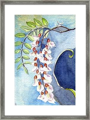 Locust Bloom Framed Print by Katherine Miller