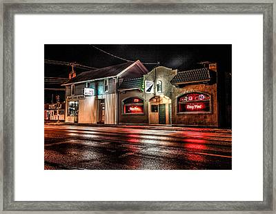 Framed Print featuring the photograph Locust St. Tap by Ray Congrove