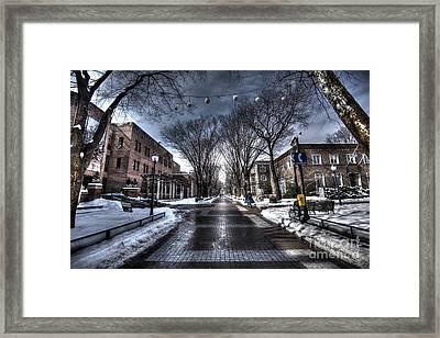 Locust Walk Winter - University Of Pennsylvania Framed Print by Mark Ayzenberg