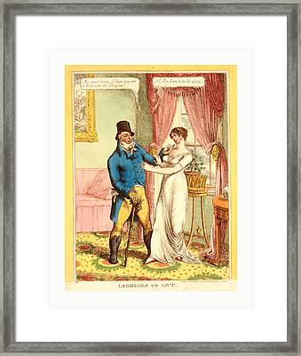 Lodgings To Let, C.w., London, 1814, A Fashionably Dressed Framed Print