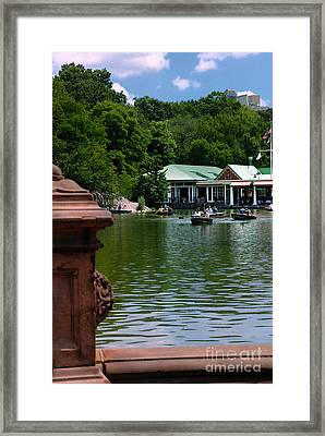 Loeb Boathouse Central Park Framed Print by Amy Cicconi