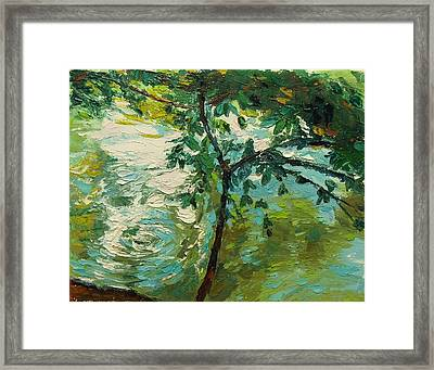 Loeb Boathouse Reflections Ny Oil 8x10 Framed Print