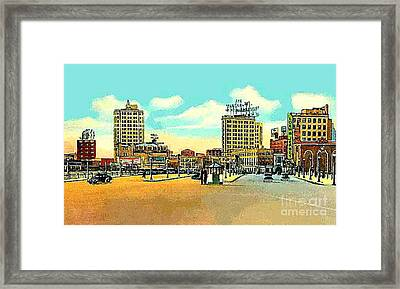 Loew's Jersey Theatre On Journal Square In Jersey City N J In The 1930s Framed Print