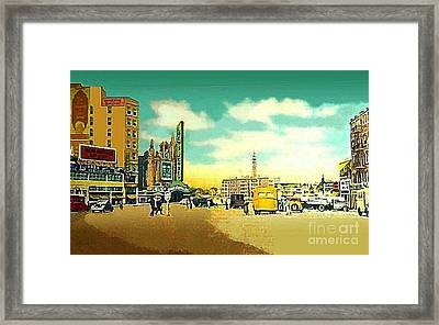 Loew's Jersey Theatre On Journal Square Jersey City In 1946 Framed Print by Dwight Goss