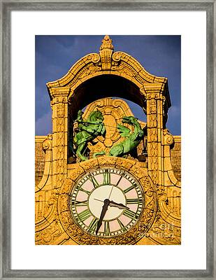 Loews Theatre Clock - Jersey City Framed Print
