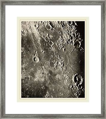 Loewy Et Puiseux French, 1833-1907, Photographie Lunaire Framed Print by Litz Collection