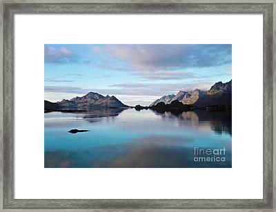 Lofoten Islands Water World Framed Print by Heiko Koehrer-Wagner