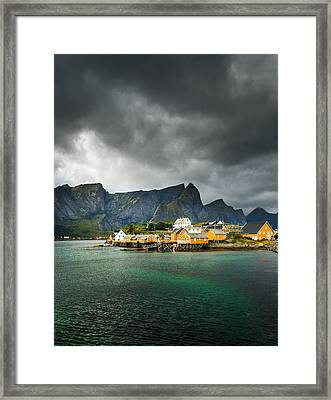 Framed Print featuring the photograph Lofoten by Maciej Markiewicz