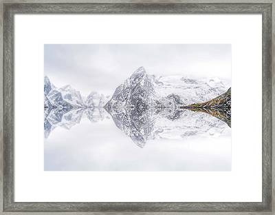 Lofoten Reflection Framed Print by Ignacio Palacios