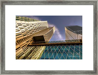 Lofty Heights - Cracked Shapes Framed Print by Juergen Schonnop