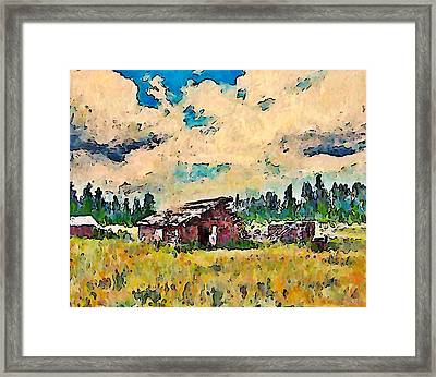 Log Building Douglas Lake  Framed Print