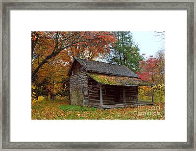 Framed Print featuring the photograph Log Cabin 1 by Jim McCain