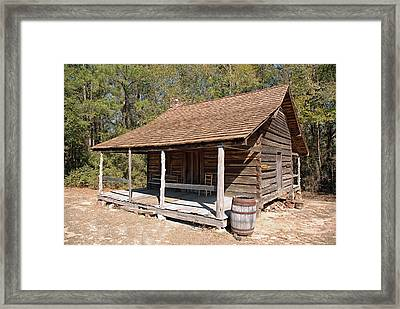 Framed Print featuring the photograph Log Cabin by Charles Beeler
