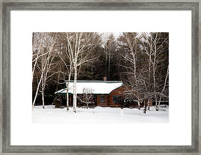 Framed Print featuring the photograph Log Cabin by Courtney Webster