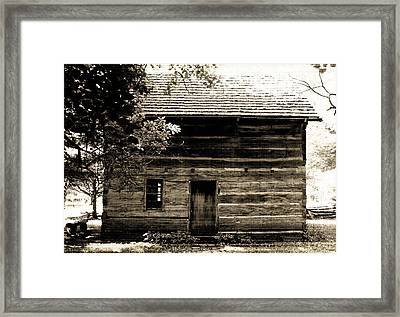 Log Cabin Home Framed Print