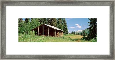 Log Cabin In A Field, Kenai Peninsula Framed Print by Panoramic Images