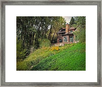 Log Cabin In Aspen Colorado Framed Print by Julie Magers Soulen