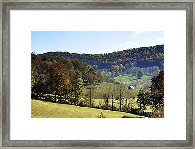 Log Cabin In The Mountains Framed Print