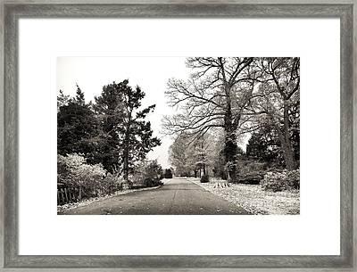 Log Cabin Road Framed Print