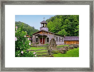 Log Church Framed Print