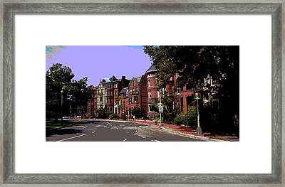 Logan Circle Framed Print