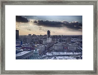 Logan Circle Philly V2 Framed Print by Douglas Barnard