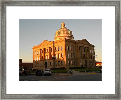Logan County Courthouse  Lincoln Framed Print