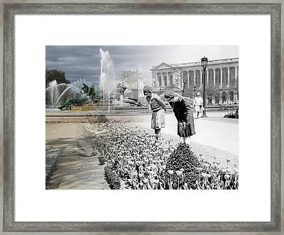 Logan Square Flappers Framed Print