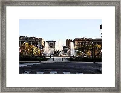 Logan Square Philadelphia Framed Print by Bill Cannon