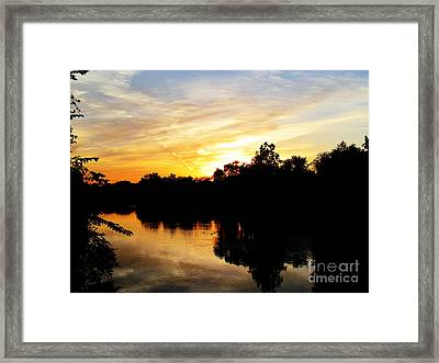 Logan Street Sunset Two Framed Print by Tina M Wenger