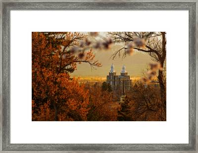 Logan Temple Framed Print by Dustin  LeFevre