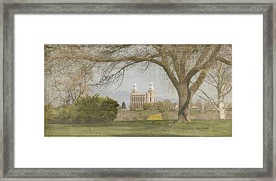 Logan Temple I Framed Print by Ramona Murdock