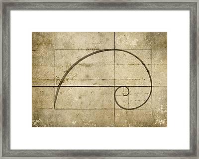 Logarithmic Spiral Framed Print by Brett Pfister