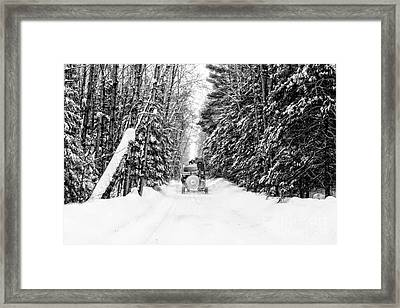 Logger's Commute Framed Print