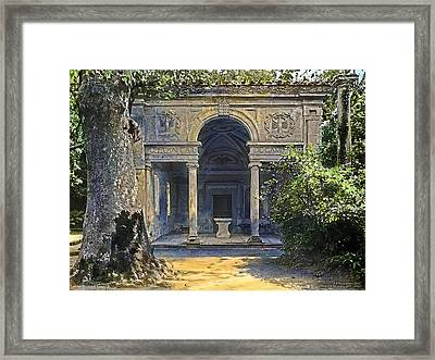 Loggia Of The Muses Framed Print by Terry Reynoldson