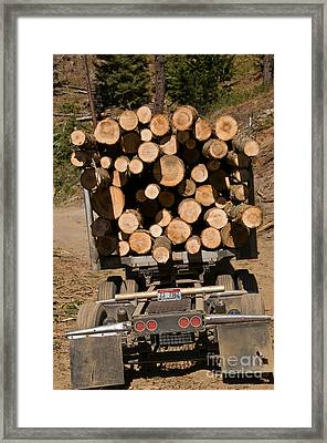 Logging Truck Framed Print by William H. Mullins