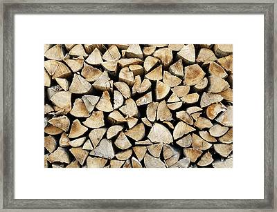 Logs Background Framed Print