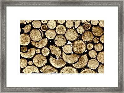 Logs Framed Print by Jeff Breiman