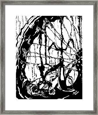 Lointain Framed Print by Hatin Josee