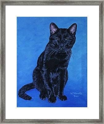 Framed Print featuring the painting Loki by Wendy Shoults