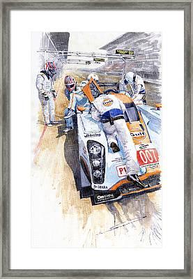 Lola Aston Martin Lmp1 Gulf Team 2009 Framed Print by Yuriy  Shevchuk