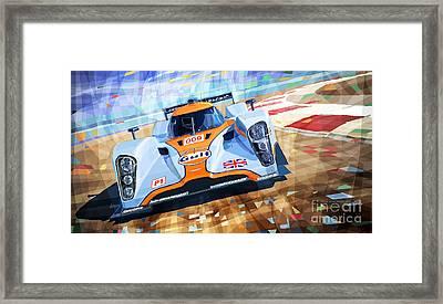 Lola Aston Martin Lmp1 Racing Le Mans Series 2009 Framed Print