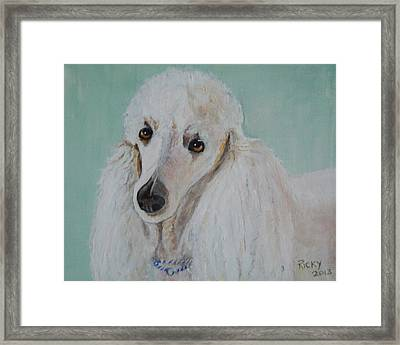 Lola Blue - Painting Framed Print by Veronica Rickard