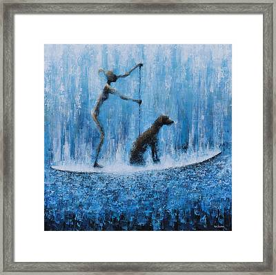 Lola In The Water Framed Print by Ned Shuchter
