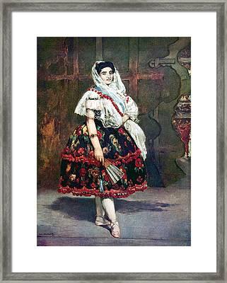Lola Of Valencia Framed Print by Edouard Manet