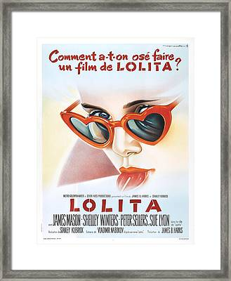 Lolita Poster Framed Print by Gianfranco Weiss
