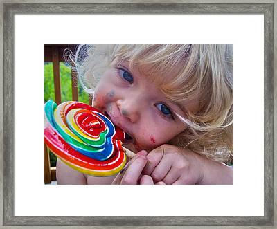 Framed Print featuring the photograph Lollipop Bliss by Lanita Williams